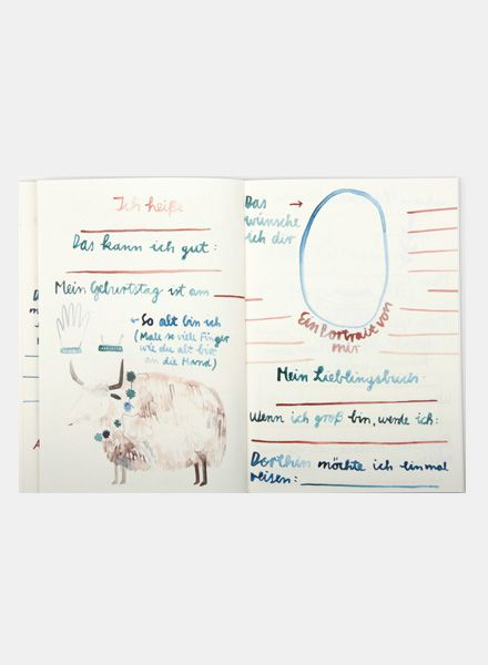 Gretas Schwester Friendsbook - Hand illustrations on 58 pages