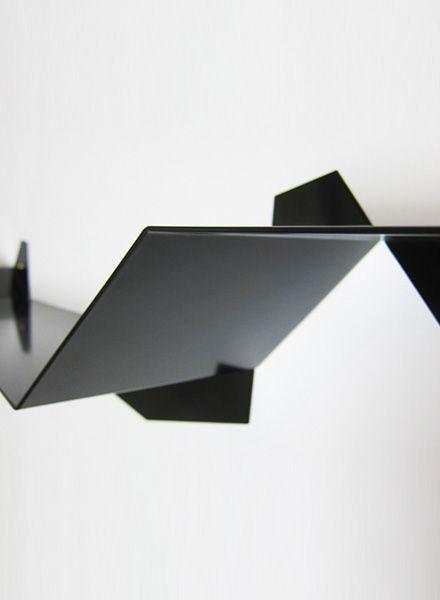 """Lalupo Wandregal """"Plateau"""" - Hergestellt aus gefaltetem Aluminiumblech"""