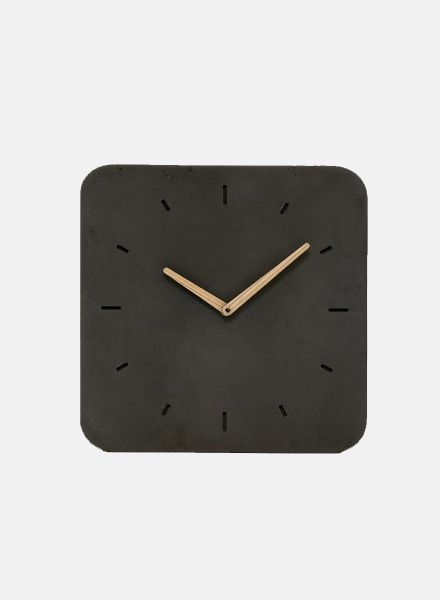"WertWerke Wall Clock ""Classic M"" Black - with wooden ash hand"