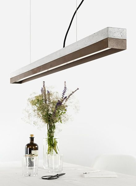 GANTlights Gantlights pendant lamp [C1] - lamp with light grey concrete body