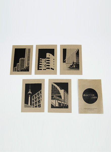 "Blackout Cities Postcard ""Berlin"" - Unique greetings from Berlin"