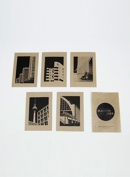 """Blackout Cities Postkarten """"Berlin"""" - Außergewöhnliche Grüße aus Berlin"""