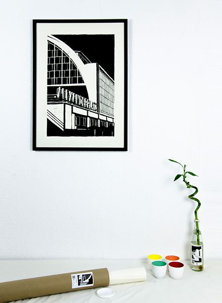 "Blackout Cities Poster ""Alexanderplatz"" - signed by hand and limited edition!"