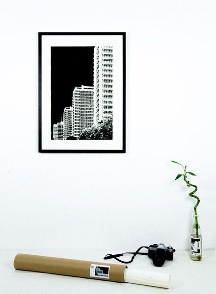 """Blackout Cities Poster """"Leipziger Strasse"""" - Handsigniert und limitierte Edition!"""