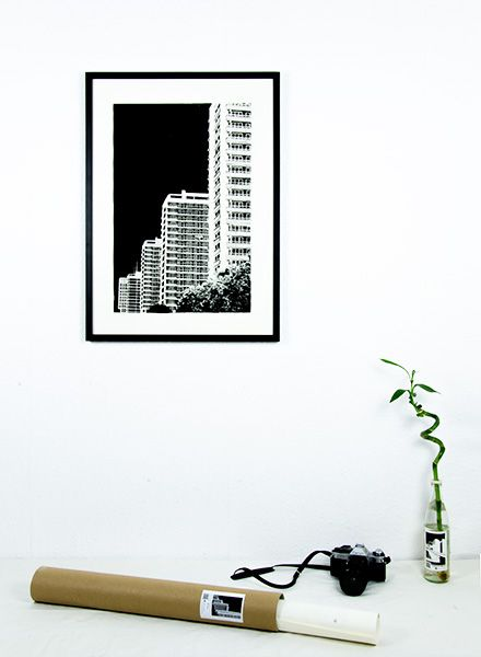 """Blackout Cities Poster """"Leipziger Strasse"""" - signed by hand and limited edition!"""