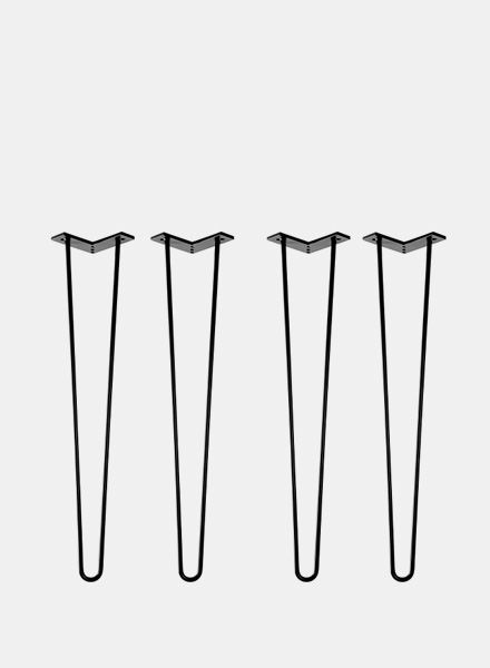 """Trivial Project Hairpinlegs """"Black"""" - Available in 3 colours and two heights"""