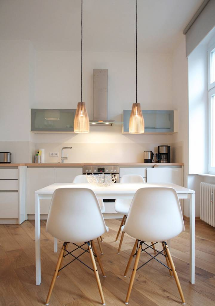 """IUMI Pendant lamp """"ENA"""" - made of birch plywood in 6 colours"""