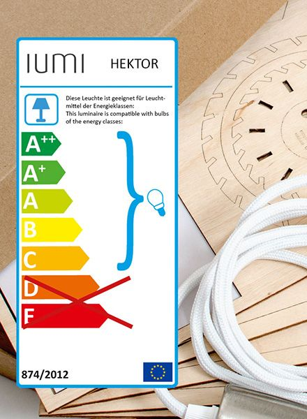 "IUMI Pendant lamp ""Hektor"" - made of birch plywood in 6 colours"