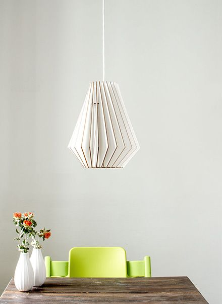 "IUMI Pendant lamp ""Hektor L"" - made of birch plywood in 6 colours"