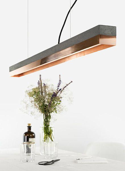 GANTlights Gantlights hanging lamp [C1] - pendant light with dark grey concrete body
