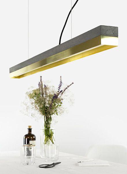 "GANTlights Lineare Pendelleuchte ""C1"" dimmbar - Lampenkörper aus dunklem Beton"