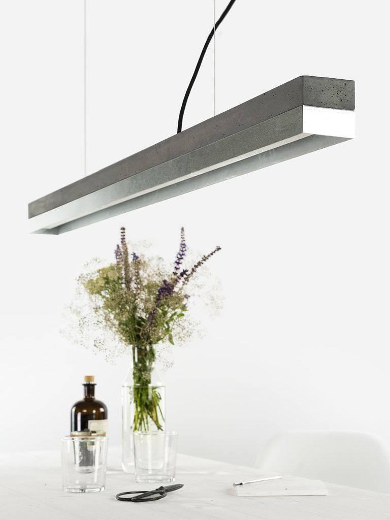 GANTlights Gantlights Betonleuchte [C1] - Hängeleuchte mit Körper aus dunkelgrauem Beton, ideal für jeden Ess- oder Konferenztisch