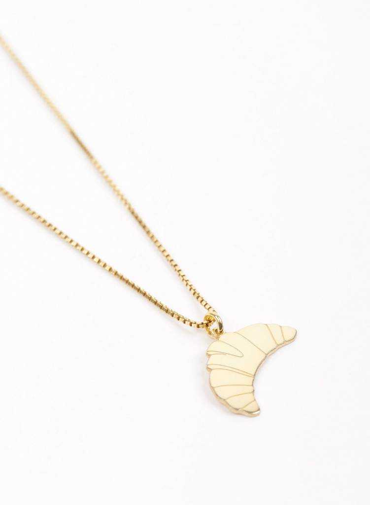 "Jukserei Necklace ""Croissant"" Gold is made of gold plated 925 sterling silver"
