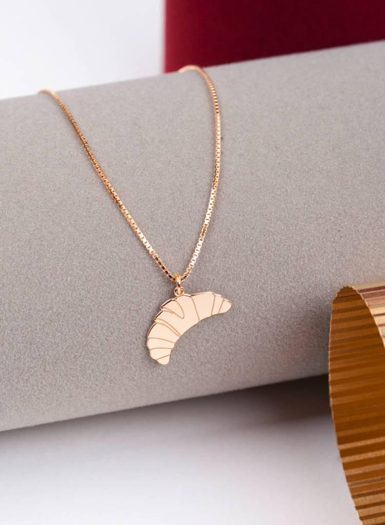 """Jukserei Halskette """"Croissant"""" Gold - hergestellt aus vergoldetem 925er Silber"""