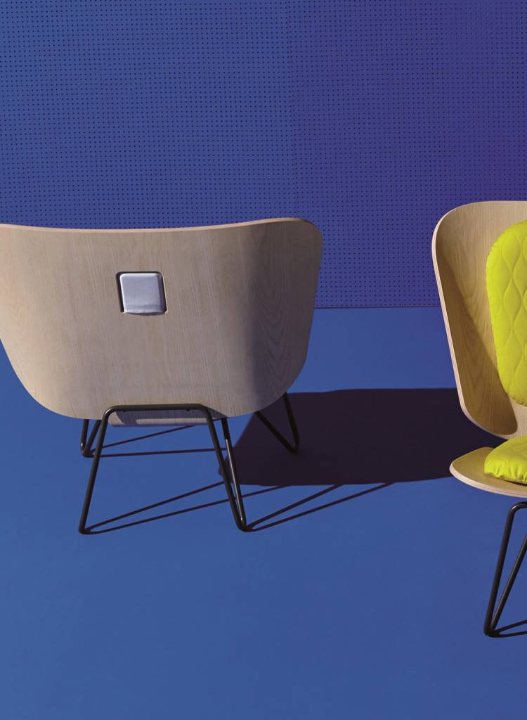 """Bartmann Berlin Lounge Chair """"Lenz""""- Geschwungene Sitzschale aus Eschenholz"""