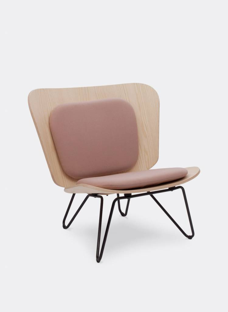 "Bartmann Berlin Lounge chair ""Lenz"" - Made of curved ash plywood"