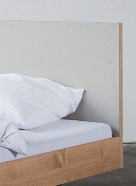 """Bartmann Berlin Bett """"Unidorm""""- Eichenbett mit und ohne Kopfteil erhältlich"""