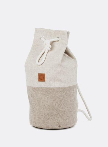 "Marin et Marine Kitbag ""Sac Marin"" wool sand"