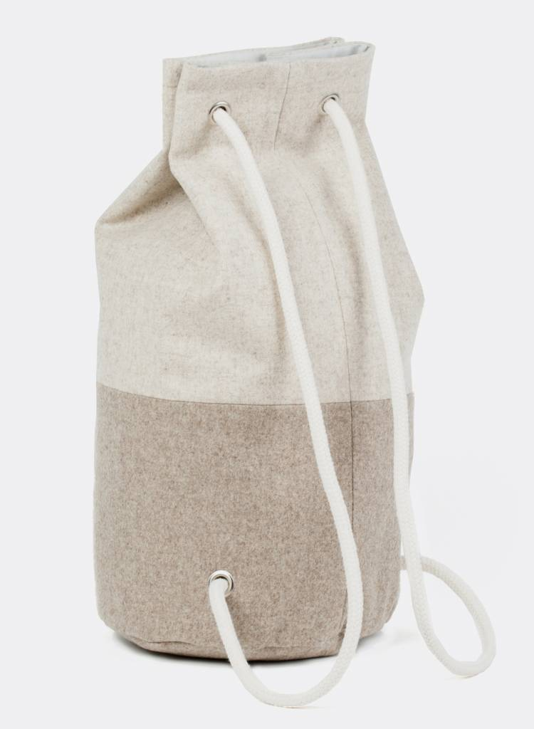 "Marin et Marine Maritime duffel bag ""Sac Marin"" made of 100% pure sheep wool"