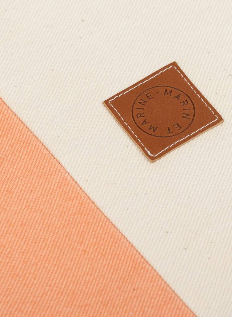 "Marin et Marine Maritime Backpack ""Sac Marin Peach"" made of 100% organic cotton"