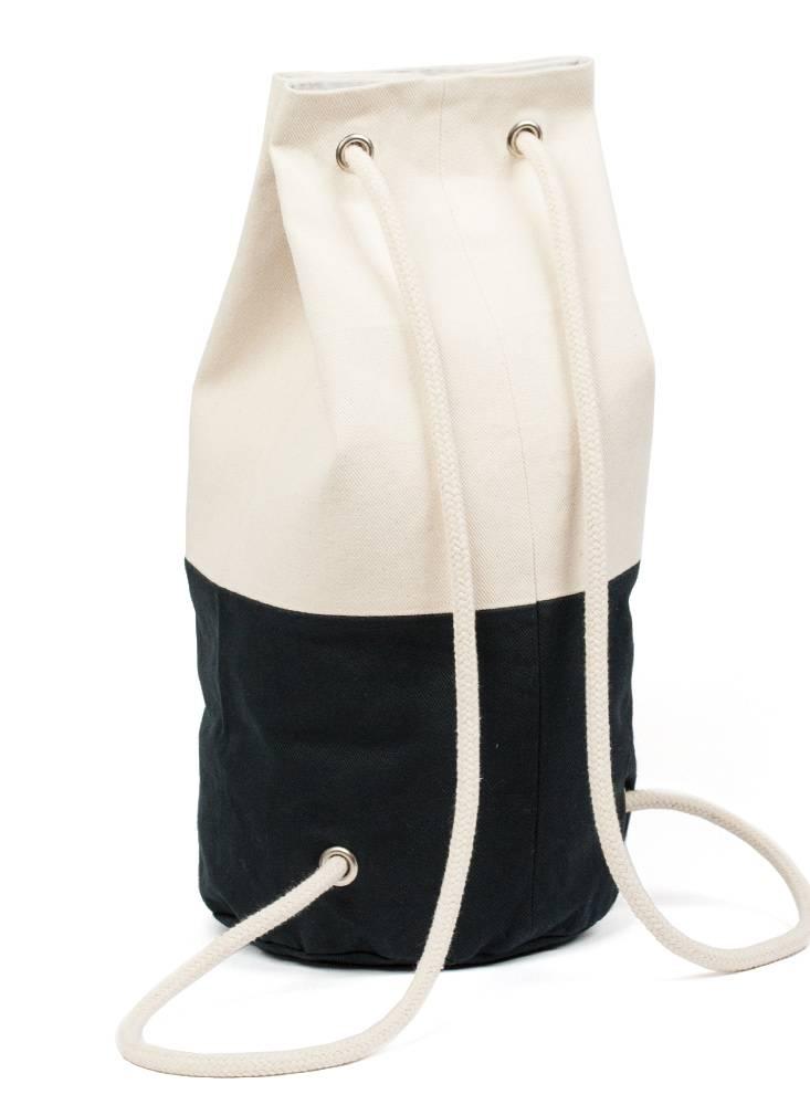 "Marin et Marine Maritime Backpack ""Sac Marin"" Blue Marin made of 100% organic cotton"