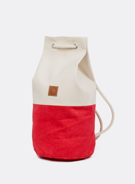 "Marin et Marine Maritime Backpack ""Sac Marin"" Hibiscus made of 100% organic cotton"