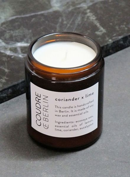 "Coudre Berlin Scented candle ""Coudre Berlin"" - Free of genetically modified materials"