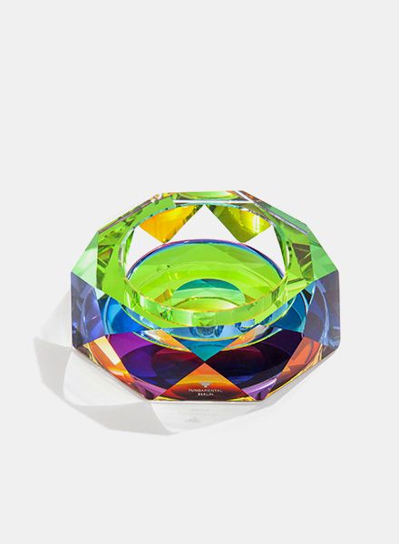 "Fundamental Bowl ""Rainbow"" - Ash-tray or Bowl made of crystal"