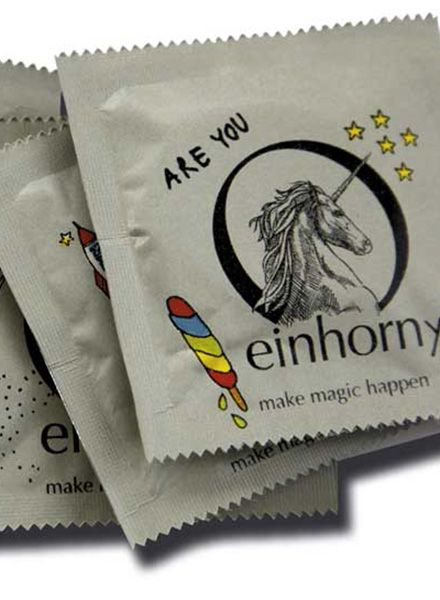 """Einhorn Products Kondome Einhorn """"Foodporn""""- Fair produziert und großartig im Design"""