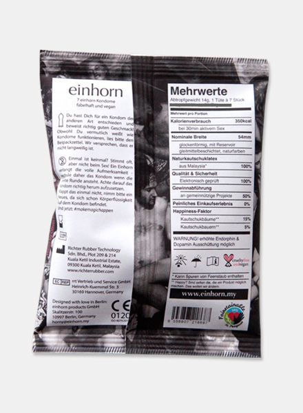 "Einhorn Products Condoms Einhorn ""Kollektiv"" - Fair produced and brilliant in design"
