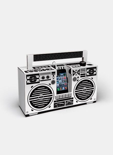 "Berlin Boombox Berlin Boombox ""Wireless"" White"