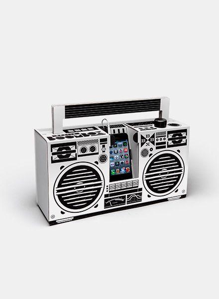 """Berlin Boombox Berlin Boombox """"Wireless"""" Weiss - Mobiles Lautsprechersystem mit Bluetooth"""