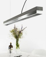 "GANTlights Lamp concrete ""C1"" dark /Stainless steel"