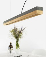 "GANTlights Lamp concrete ""C1"" dark /Oak"
