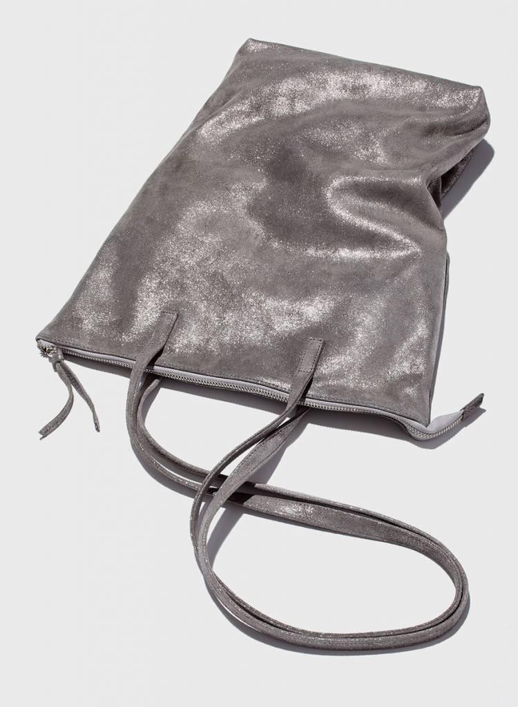 """Matke Leder Tasche """"Starlight"""" von Matke mit Glitzer-Veredelung, Reißverschluss und Innentasche"""