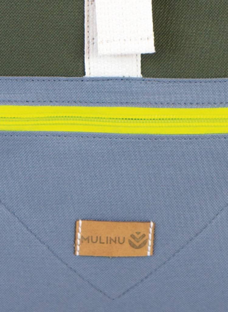 "MULINU Rucksack ""Individual Albert"" Grau-Khaki - Aus wasserdichtem & strapazierfähigem Cordura Material"