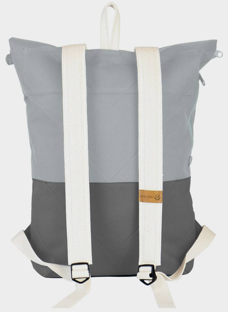 "MULINU Rucksack""Classic Albert"" Grey/Lightgrey - Made of waterproof & durable Cordura fabric"