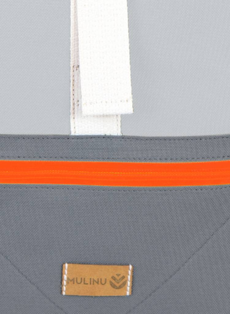 "MULINU Rucksack ""Individual Albert"" Grau-Hellgrau - Aus wasserdichtem & strapazierfähigem Cordura Material"