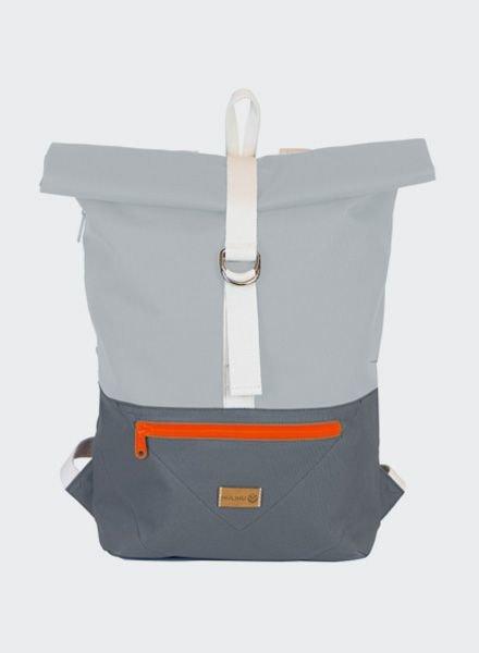 "MULINU Backpack ""Classic Albert"" Grey-Lightgrey"