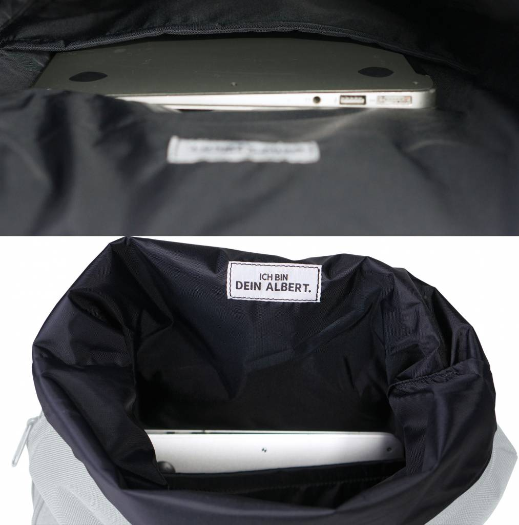 "MULINU Rucksack""Classic Albert"" Blue/Grey - Made of waterproof & durable Cordura fabric"