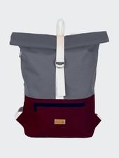 "MULINU Backpack ""Classic Albert"" Bordeaux-Grey"