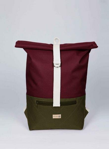 "MULINU Backpack ""Classic Albert"" Bordeaux-Grey - Copy"