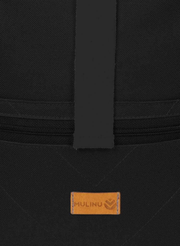 "MULINU Rucksack ""Classic Albert"" Schwarz - Aus wasserdichtem & strapazierfähigem Cordura Material - Copy"