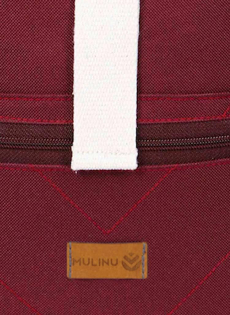 "MULINU Rucksack ""Classic Albert"" Bordeaux  - Aus wasserdichtem & strapazierfähigem Cordura Material - Copy - Copy"