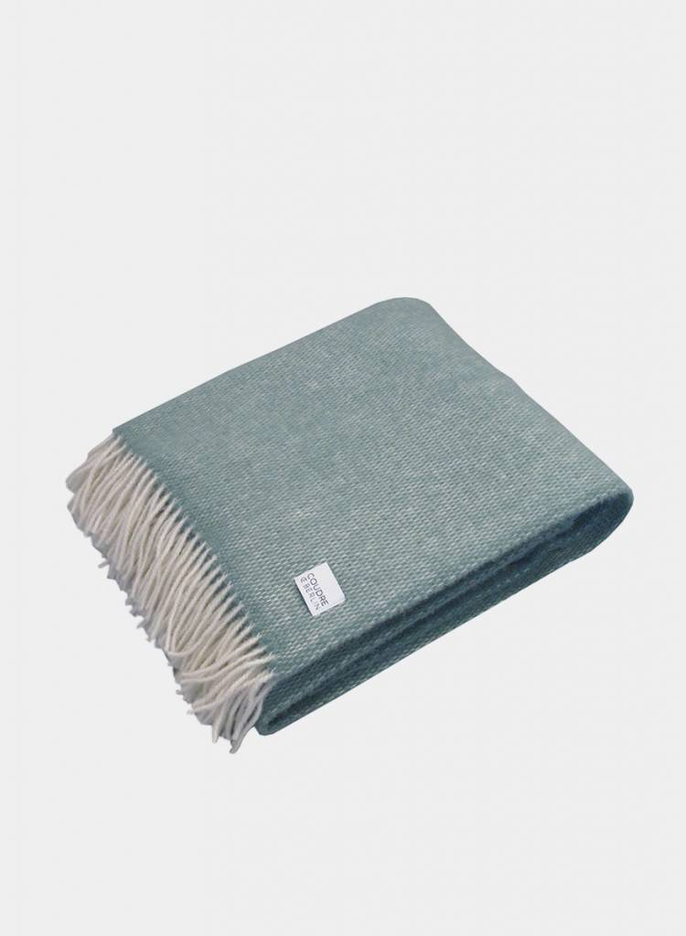 "Coudre Berlin Blanket ""Pick Stitch"" Greenstone - Cosy and warm throw made of 100% wool"