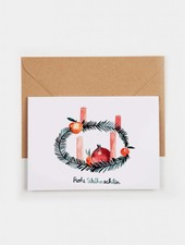 "Gretas Schwester Christmas Card ""Wreath"""