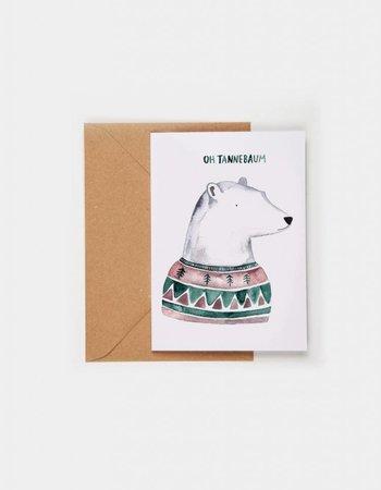 """Gretas Schwester Weihnachtskarte """"Oh Tannebaum"""""""