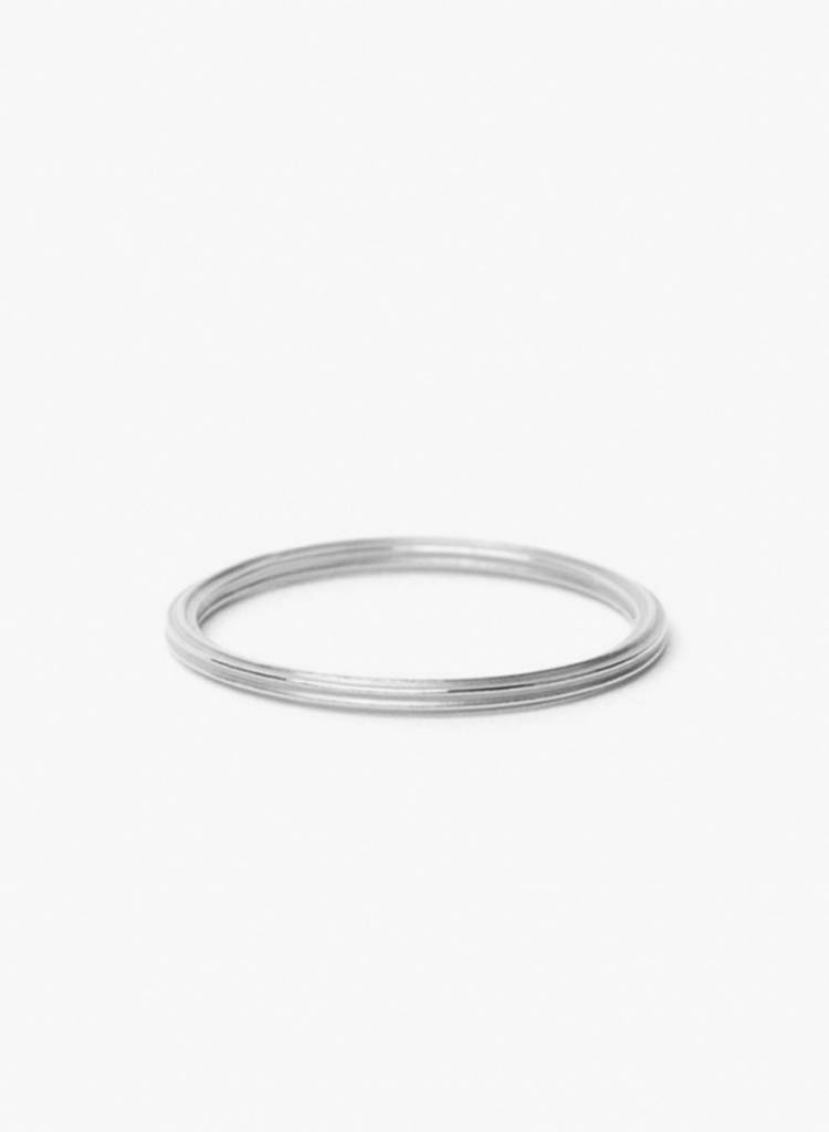 "Jukserei Ring ""Rille"" Silver - handmade of 925 sterling silver"