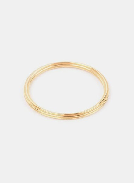 "Jukserei Ring ""Rille"" Gold"