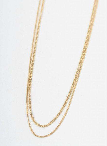 "Jukserei Necklace ""Le Double Grumetta "" Gold"